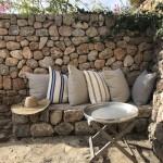 A shady corner on the terrace