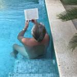 A pool & a good book