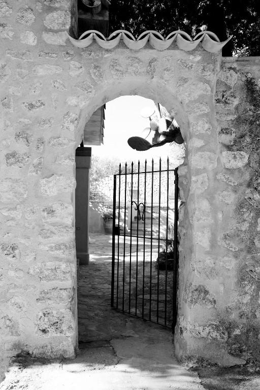The gate into our garden