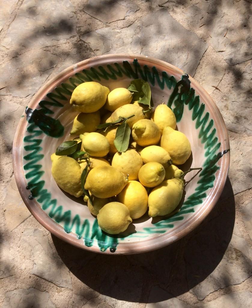 Old bowl with fresh lemon!