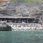 Cala Deía, the restaurant on the beach